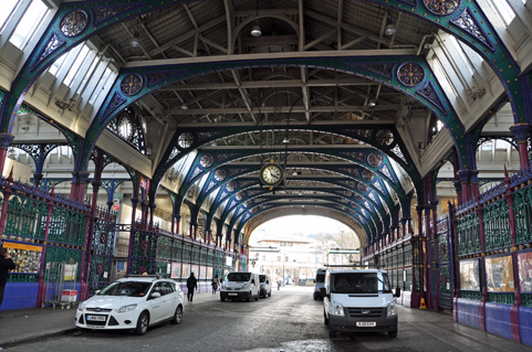 Prince Rudolf was taken to visit Smithfield Market,London.