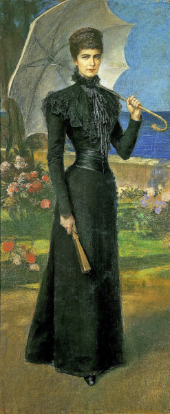 SIsi, Empress of Austria by Fiedrich August Kaulbach in 1898 in Corfu