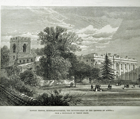 Easton Neston Estate in Northamptonshire rented by Sisi in 1876