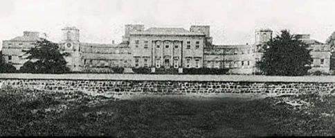 Summerhill House, Meath, Ireland, burnt down in 1922