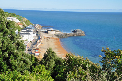 Ventnor Esplanade, Isle of Wight visited by Sisi.