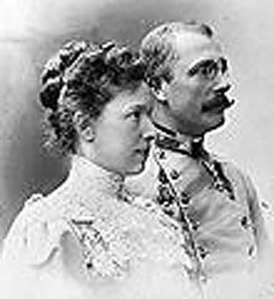 Archduchess Marie Valerie and her husband.