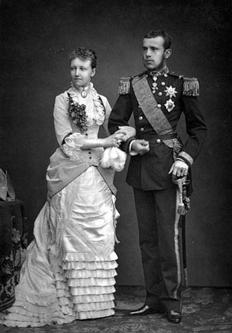 Crown Princess Stephanie of Austria with her husband Crown Prince Rudolf