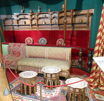 Rudolf's Turkish Room in the Sisi Collection in the Furniture Museum , Vienna