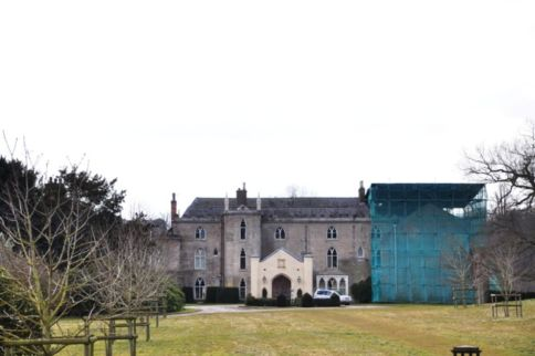Comberemere Abbey under restoration
