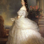 Sisi, Empress of Austria with diamond stars in her hair before 1873 by Franz Xavier Winterhalter