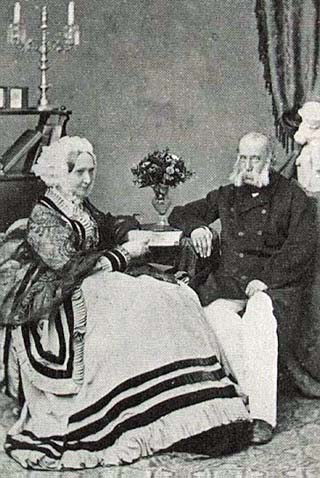 Archduke Franz Charles and his wife Archduchess Sophie parents of Franz Josef
