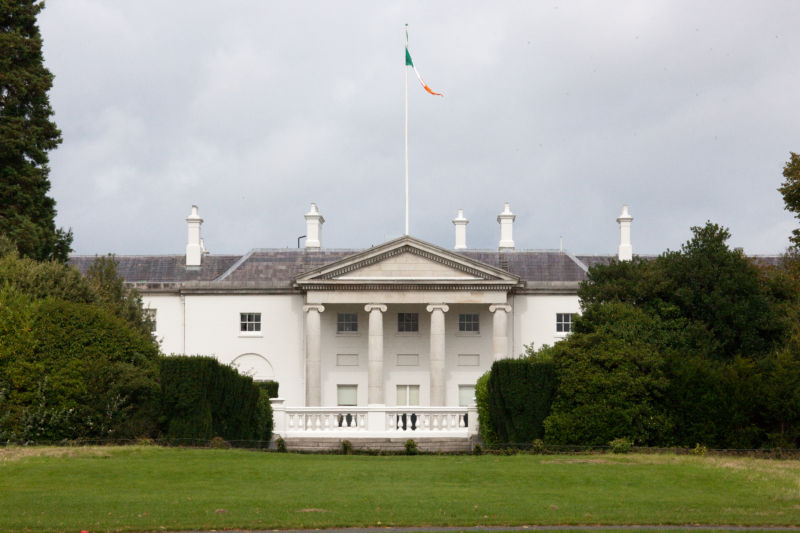 Irish Viceroy's House where Sisi's companion Colonel Forster worked. Now Irish President's House.