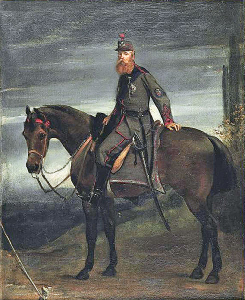 John Poyntz, 5th Earl Spencer on horseback