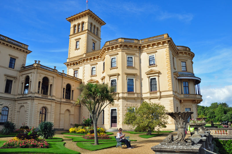 Osborne House, Isle of Wight. Rudolf visited Queen Victoria.