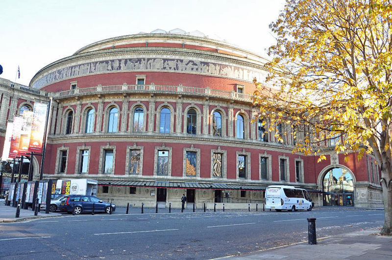 Royal Albert Hall, Kensington, London visited by Crown Prince Rudolf.